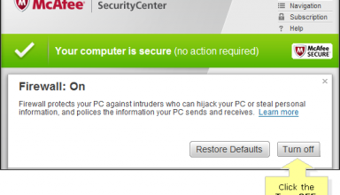 disable mcafee